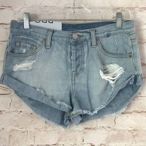 BDG Mid Rise Slayer Cut Off Jean Shorts 26